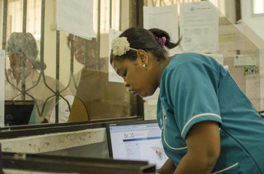 Aprendiz SENA de  Manzanillo del Mar en rotaciones clínicas.