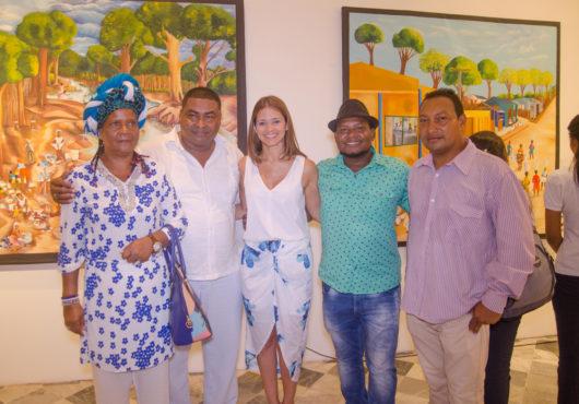 Gloria Sánchez, Henry Guizamano, Isabel Mathieu, Moisés Zabaleta y Juan Carlos Sibaja. Exposición Pescando Sueños.