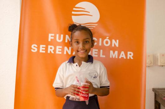 Niños y niñas de la Institución Educativa de Manzanilla del Mar en jornada de Salud Integral